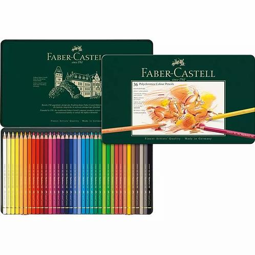 Faber-Castell Polychromos Artist's Colour Pencil, Tin of 36