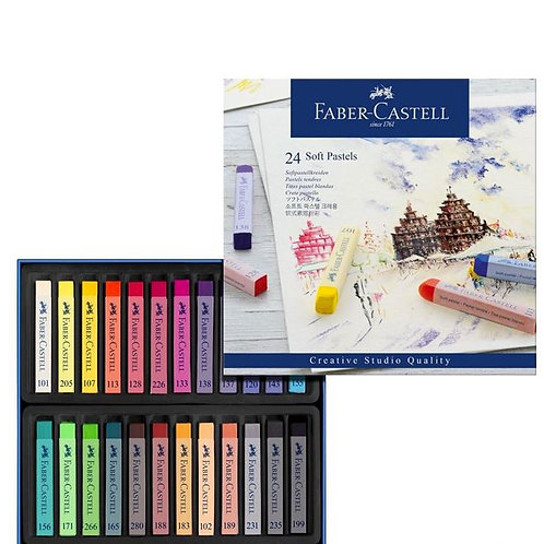IP - Faber-Castell Soft Pastel 24-Pieces Full Length