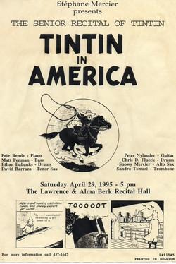 Flyer for his recital at Berklee, 95