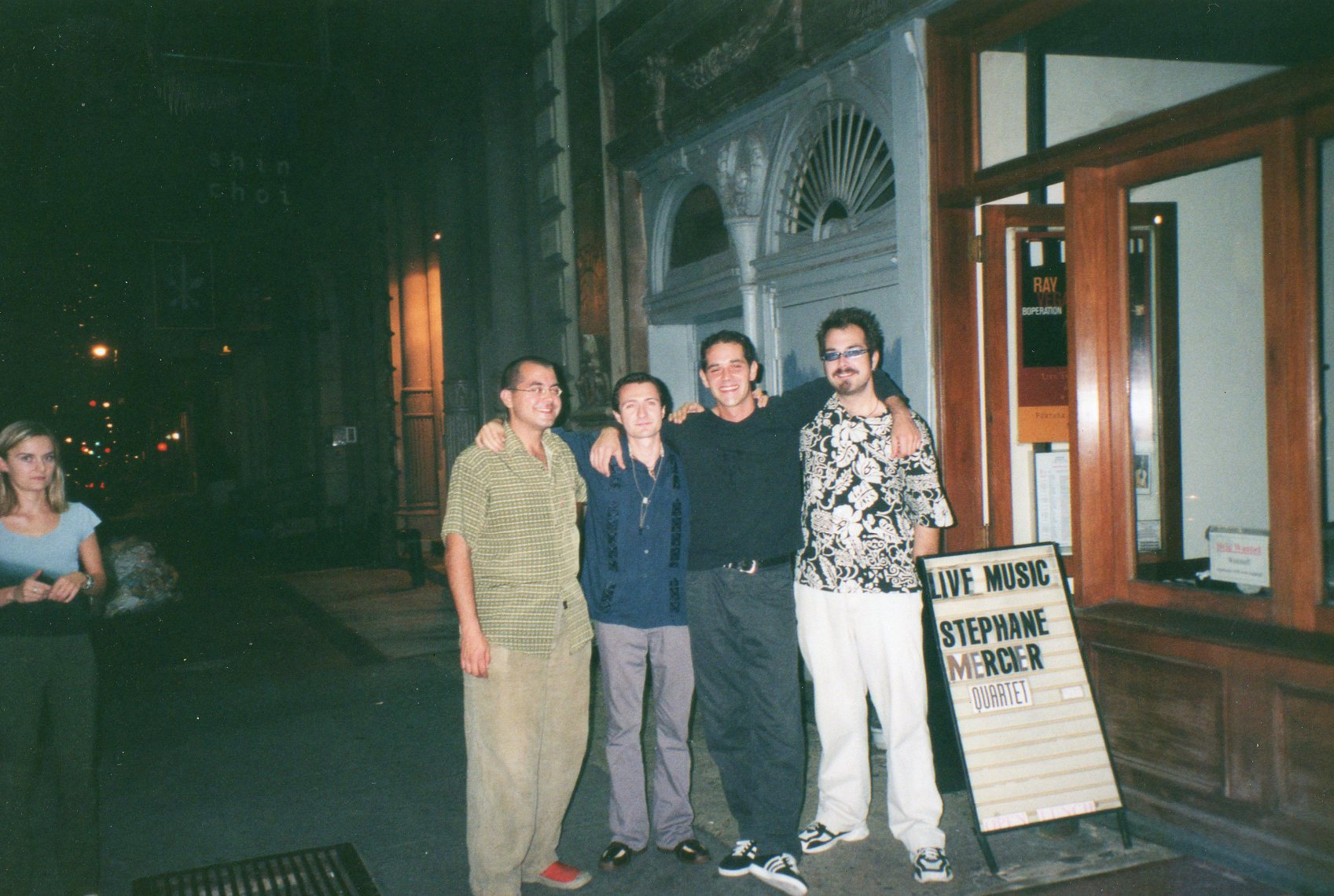 NYC, Soho with his quartet, 2001