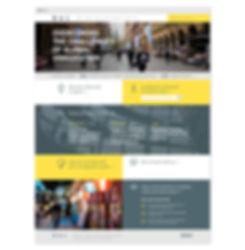 BAL website homepage design
