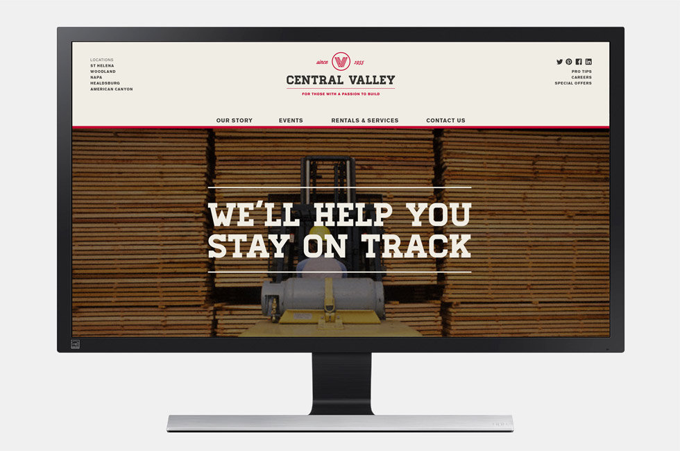 Central Valley website homepage