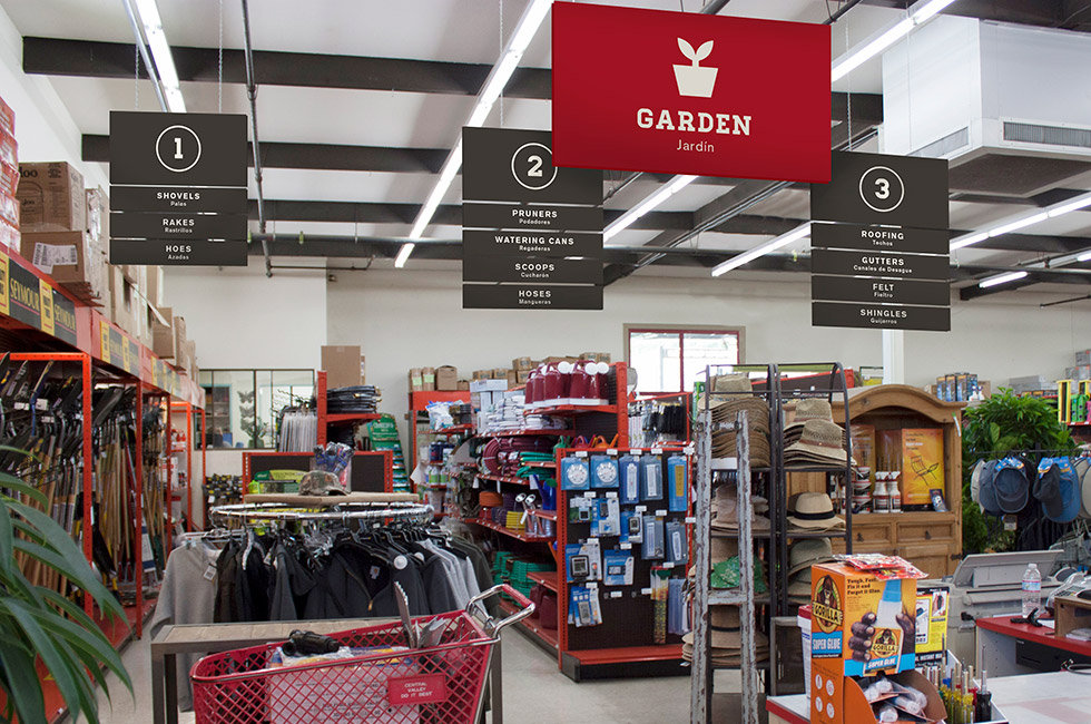 Central Valley aisle signage interior
