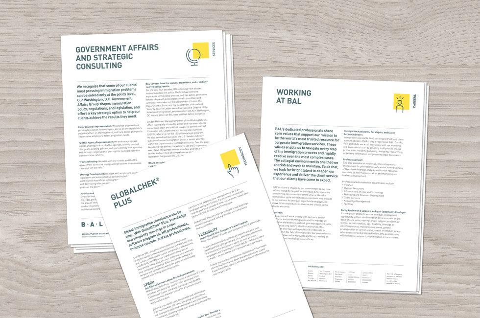 BAL print service sheets