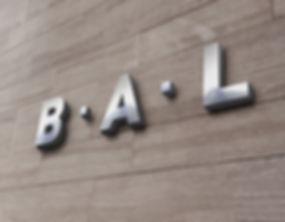 BAL logo wall