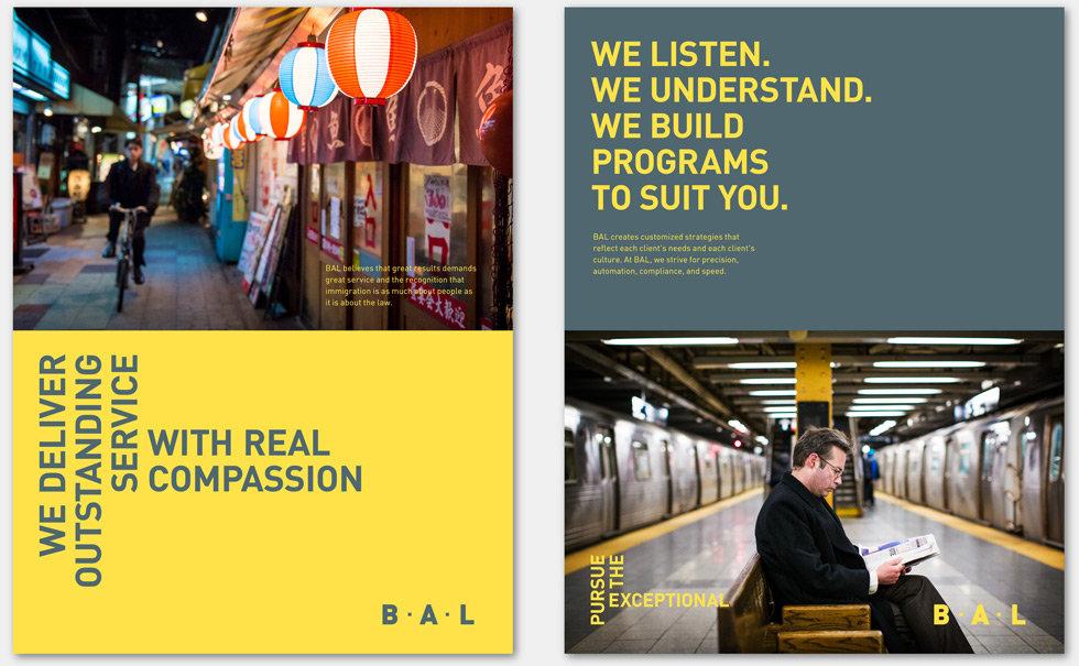 BAL branding posters