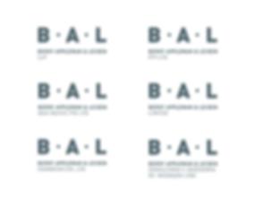 BAL brand architecture logo system
