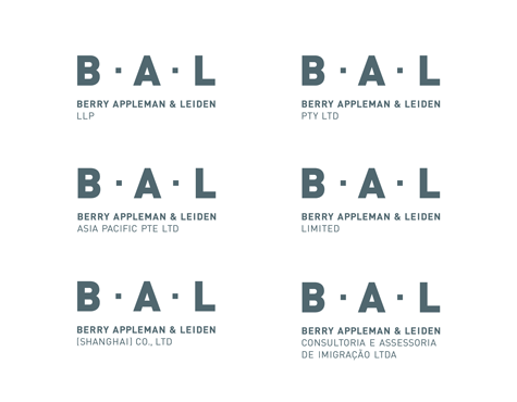 BAL brand architecture logo system
