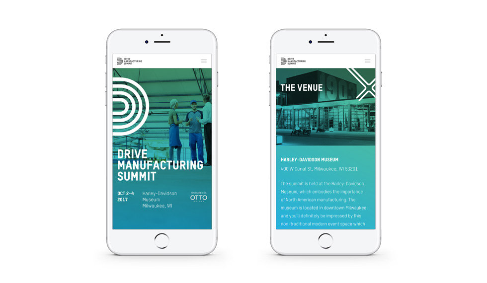 Drive Manufacturing Summit mobile website