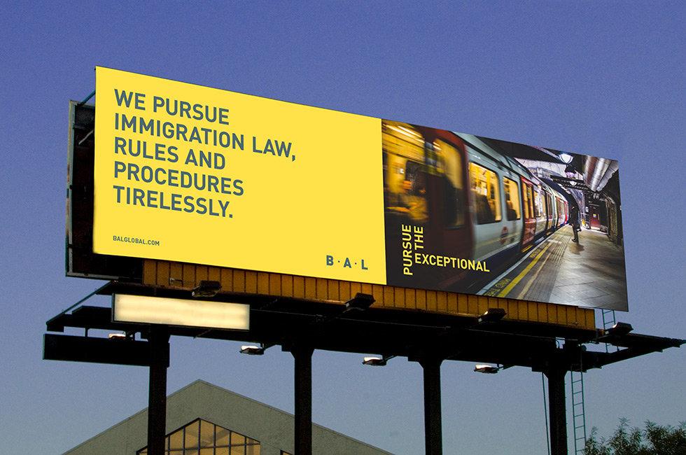 BAL branding billboard