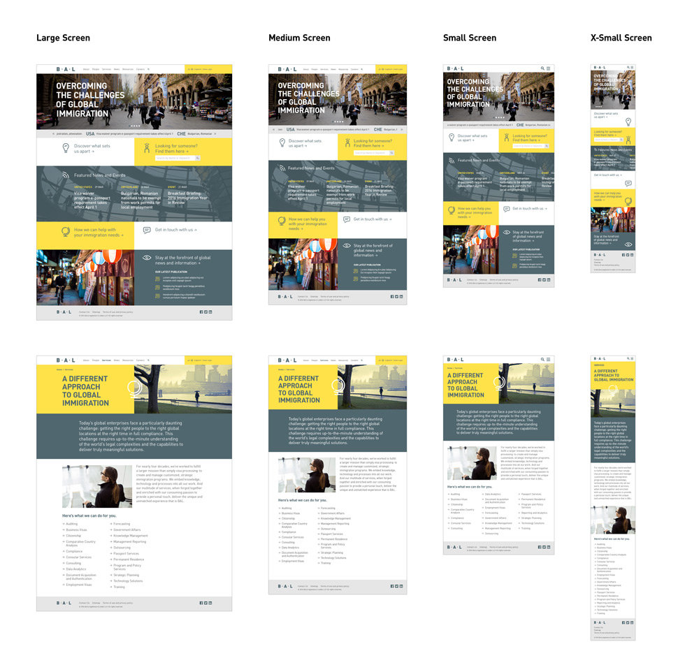 BAL website responsive design