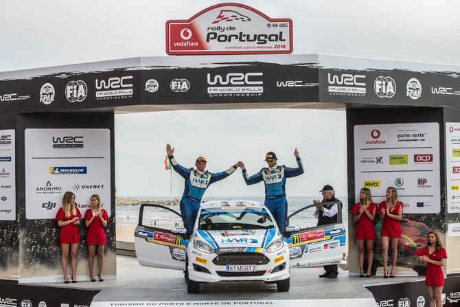 Holder and Farmer survive rock-strewn Rally Portugal to take third in JWRC