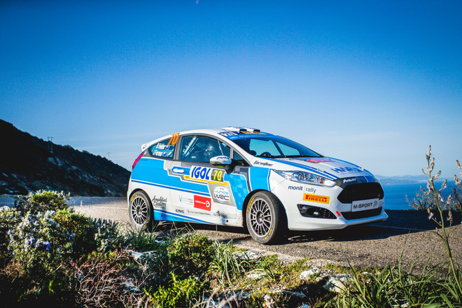 Holder and Farmer finish tarmac debut in Corsica