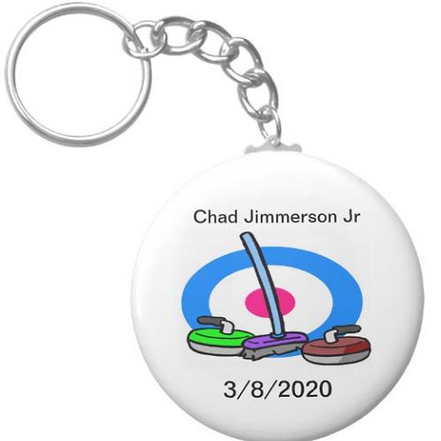 Chad Jimmerson Jr Curling Key chain