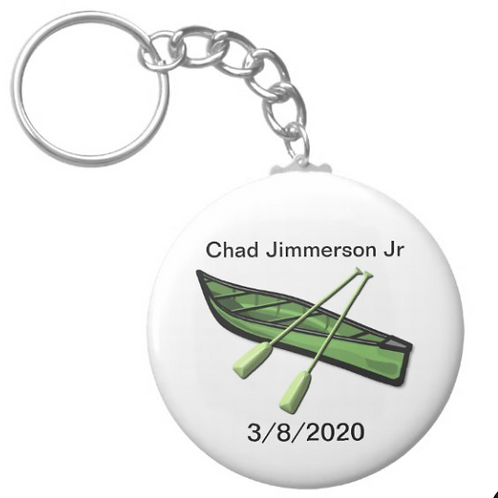 Chad Jimmerson Jr Canoeing Keychain