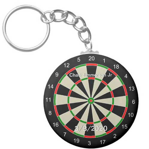 Chad Jimmerson Jr Dart Board Key chain