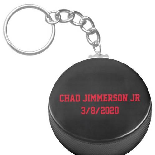 Chad Jimmerson Jr Hockey Keychain