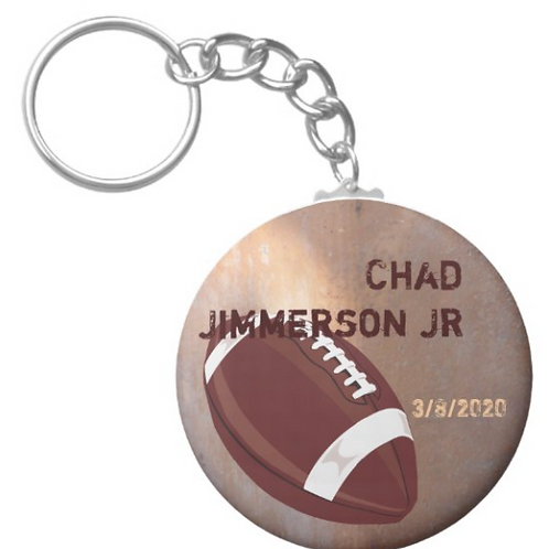 Chad Jimmerson Jr FootballKey chain