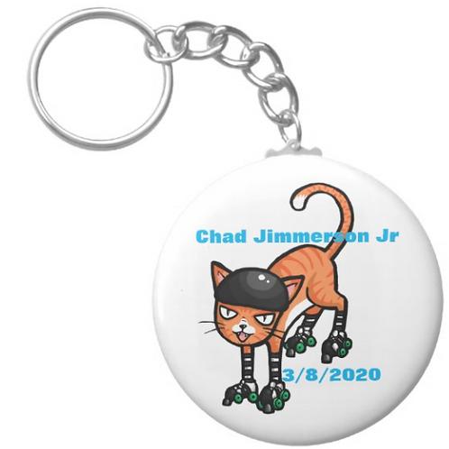 Chad Jimmerson Jr Skating Keychain