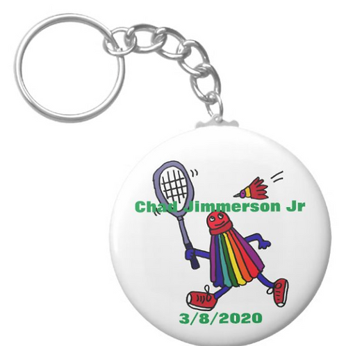 Chad Jimmerson Jr Badminton Keychain