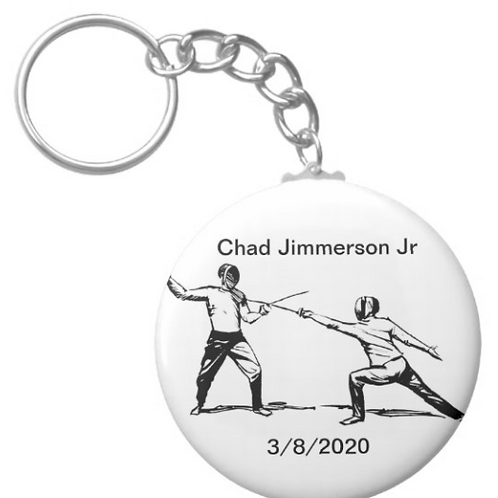 Chad Jimmerson Jr Fencing Key chain