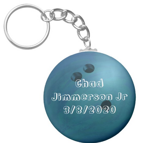 Chad Jimmerson Jr Bowling Ball Keychain