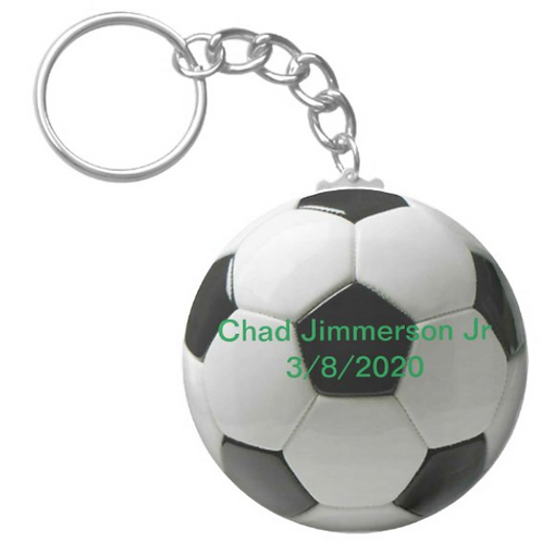 Chad Jimmerson Jr Soccer Keychain