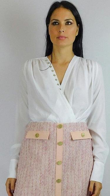 Camicia body Guess by Marciano con bottoni decorativi dorati.