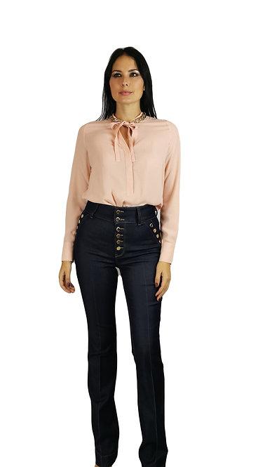Jeans Guess by Marciano vita alta con bottoni, lavaggio scuro