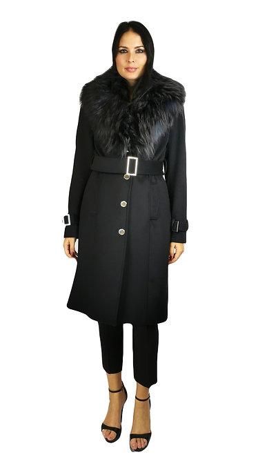 Cappotto in misto lana con ecopelliccia. 0BG3629192Z