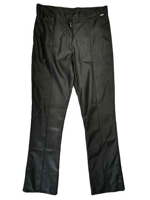 Twinset pantalone in ecopelle nero