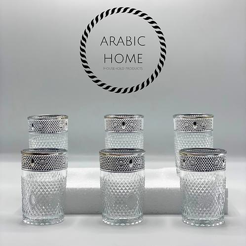 Qatar theeglazen zilver