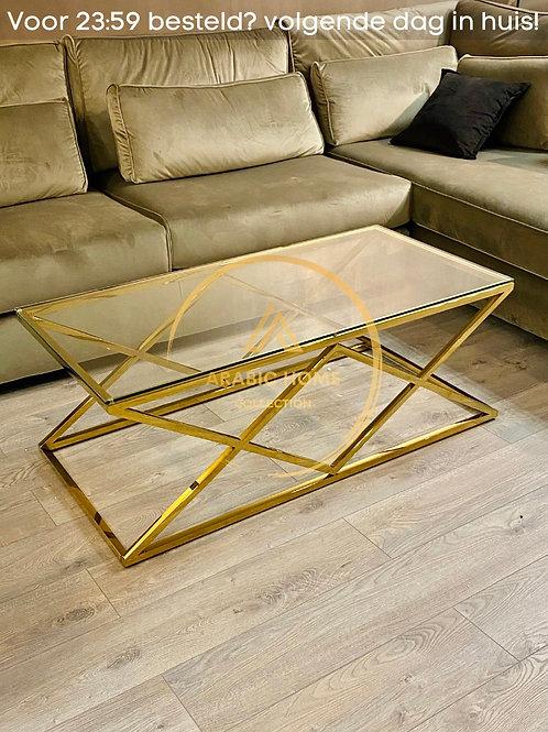 Luxe Double Cross Salontafel Gold