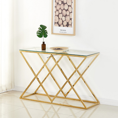 Luxe Double Cross Sidetable Gold