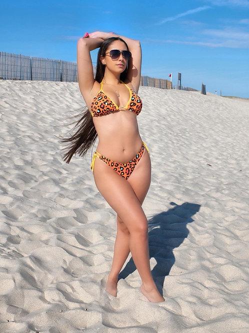 Ibiza bikini in Orange animal print