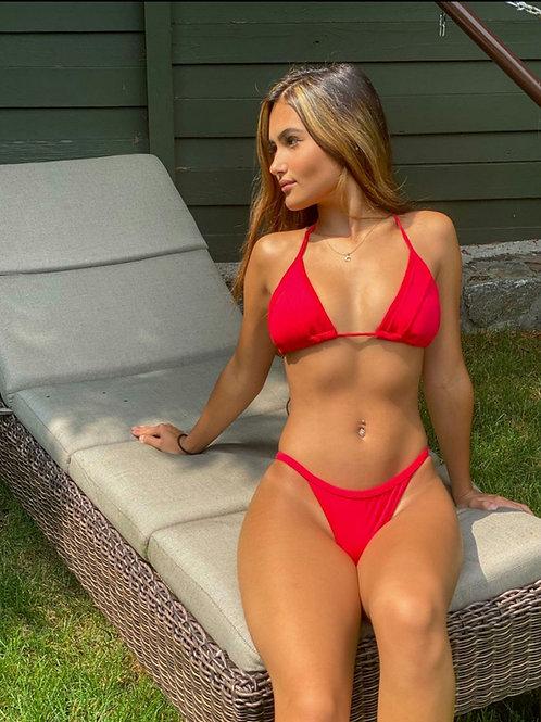 Lenny's Tan-Line Red Bikini