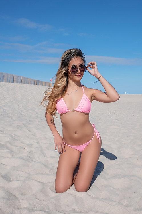 Baby pink thong bikini