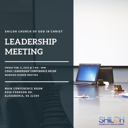 Leadership Meeting: Special Presentation