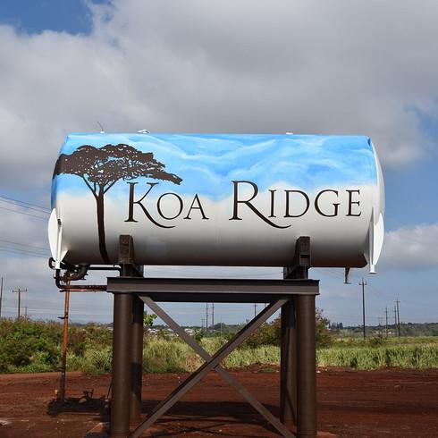Koa Ridge Water Tanks Mural