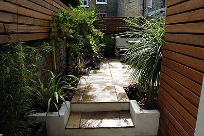courtyard garden, patio