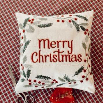 Merry Christmas Pillow Workshop