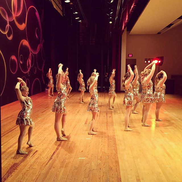 Side stage view! #happytogether #recital16 #villadanceco #rehearsal #shownumberone