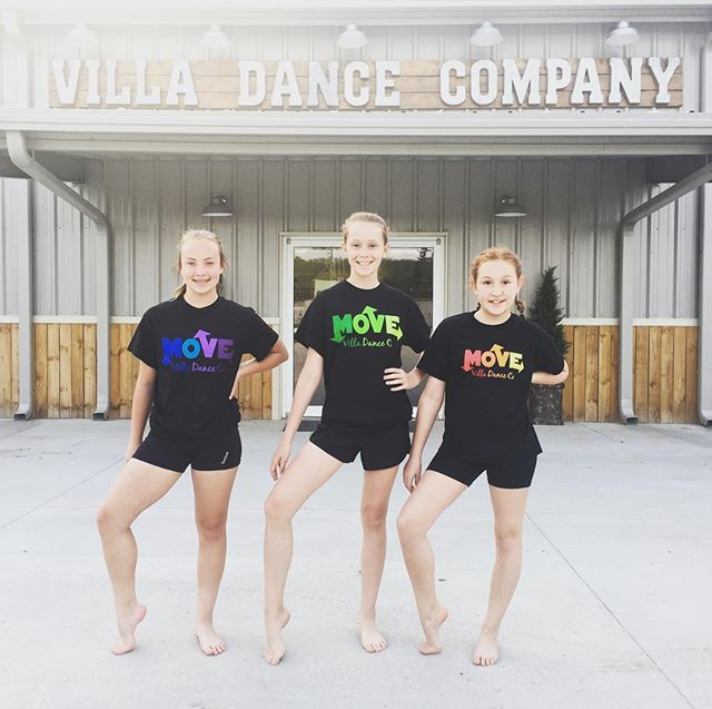 💙💜MoVE 💚 ❤️💛_Recital T-shirts for 2017! _Thank you to our little models_ _Raegan, Brook & Gracie