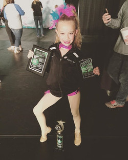 Nelley Jae received a special judges choice _Little Diva_ award for musicality and _how to work your