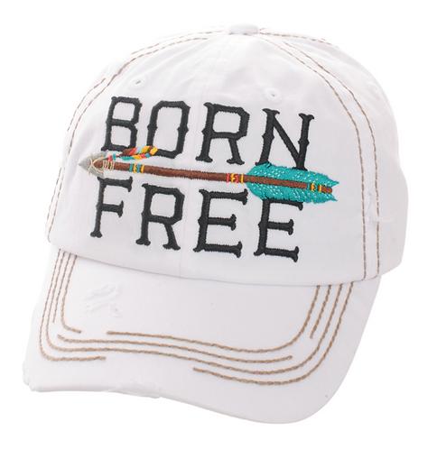 White Born Free Cap