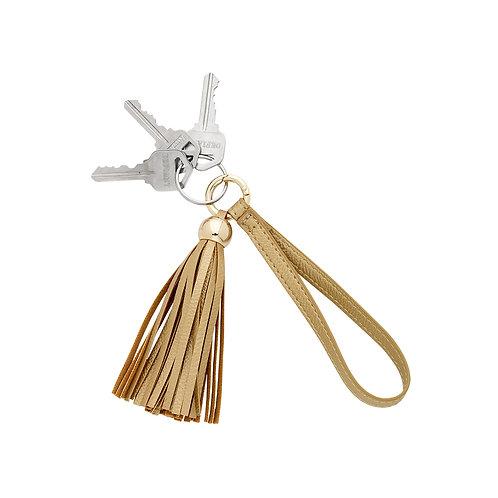 Gold Tassel Keychain