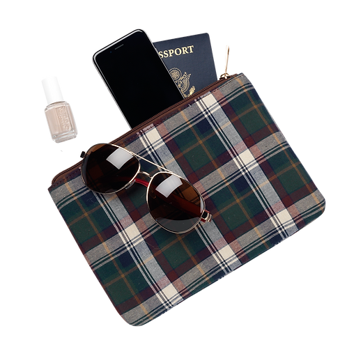 Avery Plaid Zip Pouch