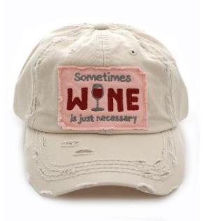 Beige Sometimes Wine Cap