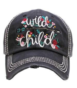 Black Wild Child Cap