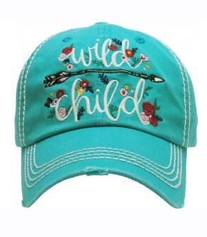 Turquoise Wild Child Cap